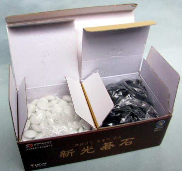 Glass Go Stones, 10 mm, 180+180