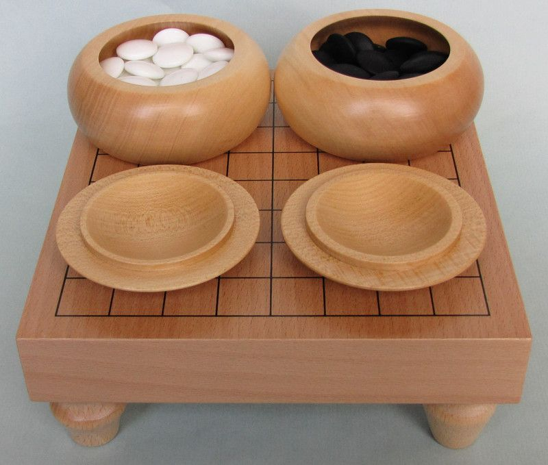 Table Go Set 9x9 (natural bowls)