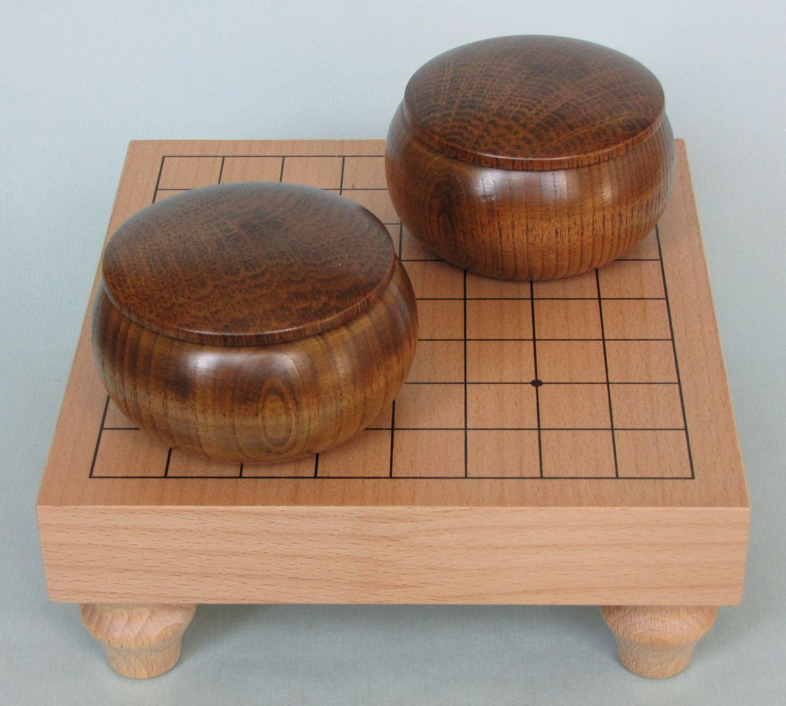 Table Go Set 9x9 (dark bowls)
