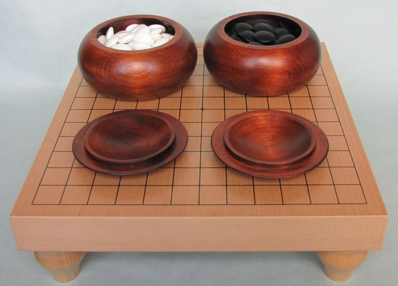 Table Go Set 13x13 (dark bowls)