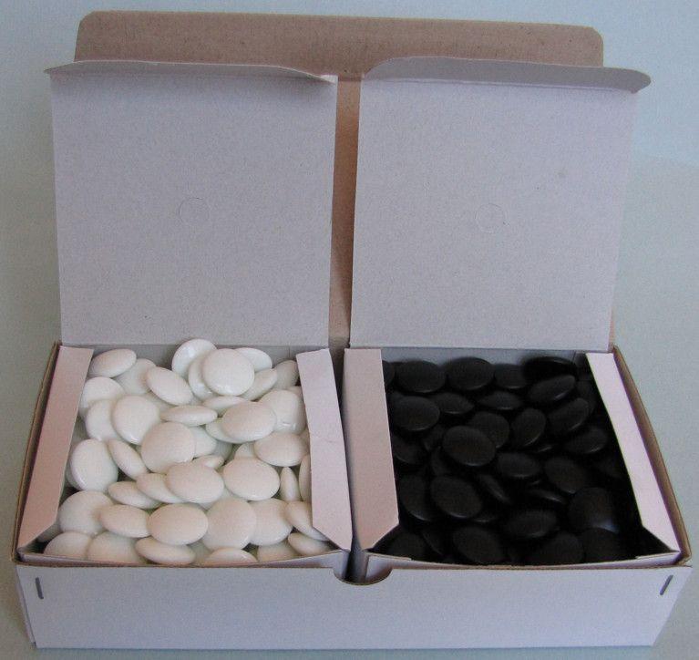 Glass Go Stones, 7 mm, 180+180