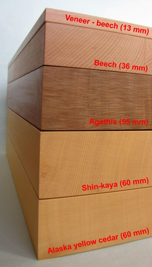 Go Board 19x19 + 13x13 - 13 mm, folding (magnetic joints)