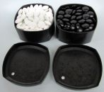 Glass Go Stones, 8 mm, 160+160, in containers