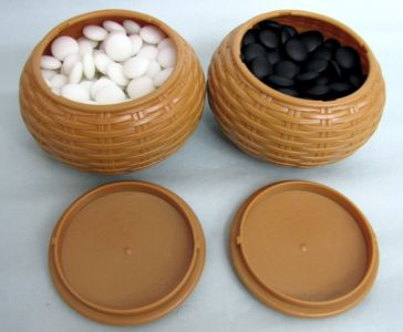 Yunzi Go Stones, 9,5 mm, 180+180, snow white